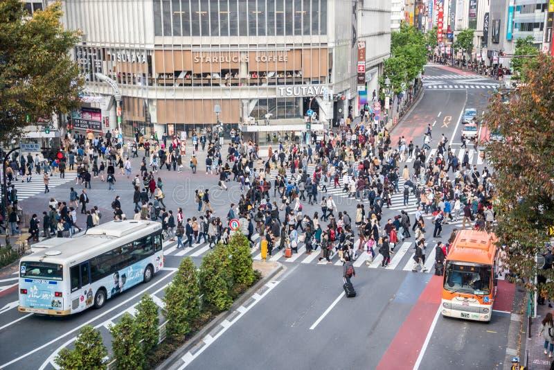 Croisement de Shibuya photo stock