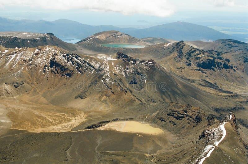 Croisement de Tongariro, Nouvelle Zélande images libres de droits