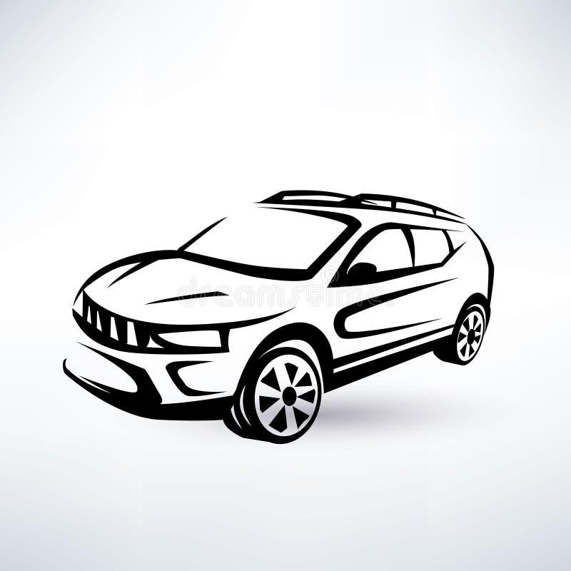 Croisement moderne, voiture de sport d'offroader illustration stock
