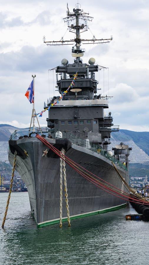 """Croiseur de """"Mikhail Kutuzov """", musée de bateau image stock"""