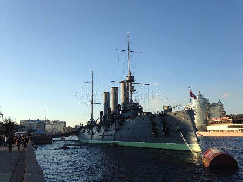 Croiseur légendaire Avrora photo stock