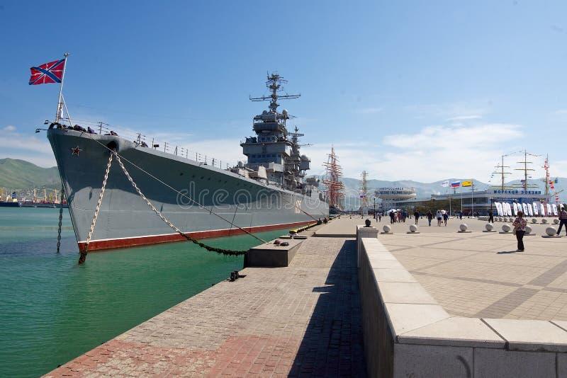 Croiseur «Mikhail Kutuzov» images libres de droits
