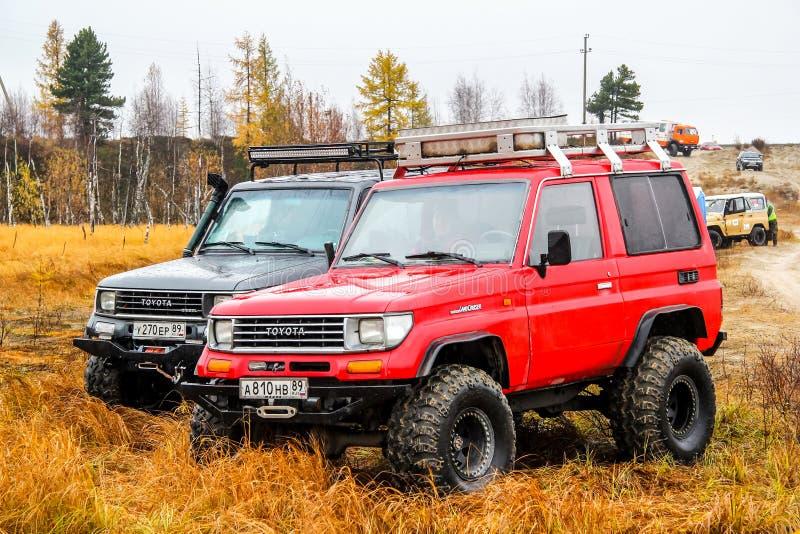 Croiseur Prado 70 de terre de Toyota photos libres de droits