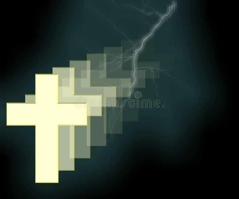 Croisez 3D - Religion illustration stock