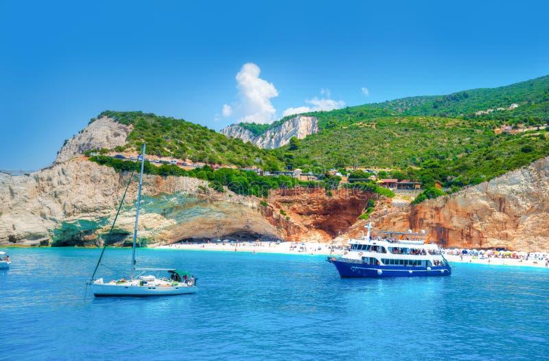 Croisez autour de l'île de Leucade en Grèce, l'Europe images libres de droits