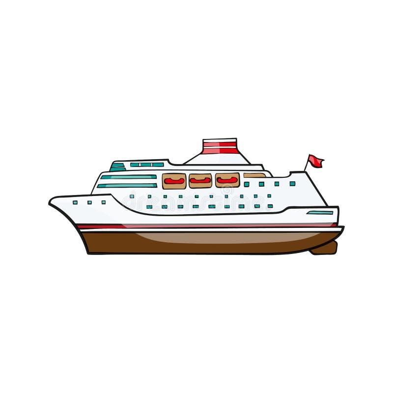Croisière de bateau de jouet d'enfants illustration stock