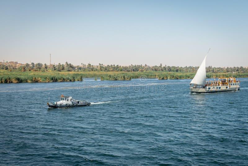 Croisières sur le Nil ?gypte Avril 2019 photographie stock libre de droits