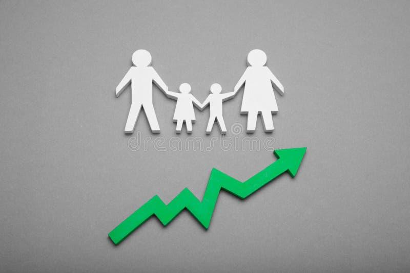 Croissance démographique humaine du monde concept de taux de natalit? photo libre de droits