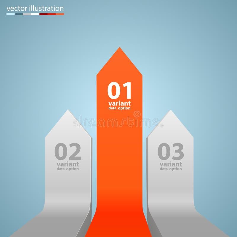 Croissance d'affaires de flèches Vecteur illustration stock