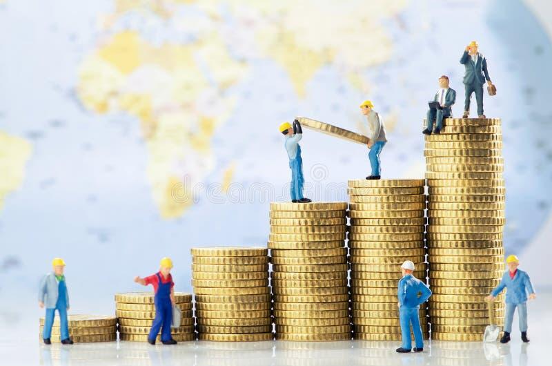 Croissance d'affaires globales photo stock