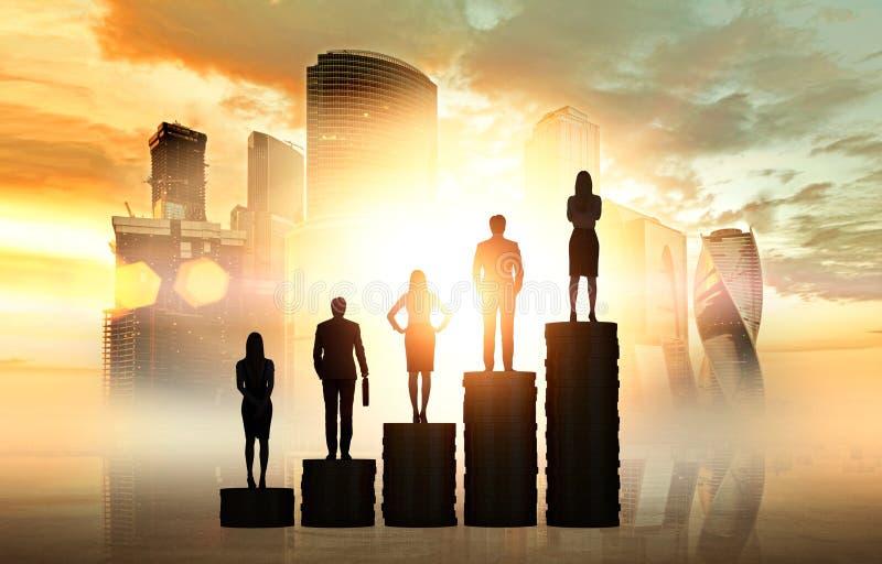 Croissance de carrière image libre de droits