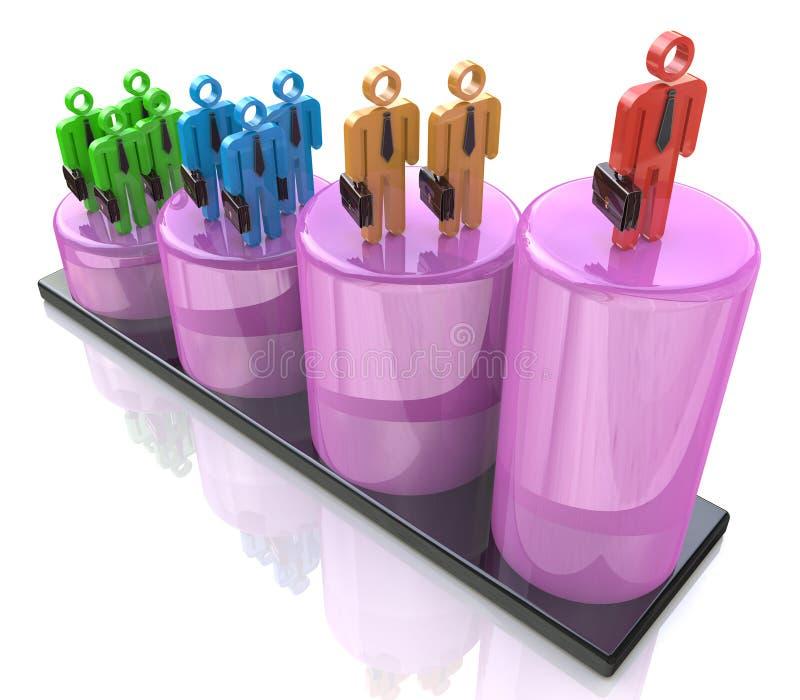 Croissance de carrière, développement de la vie professionnelle, avancement de carrière illustration stock