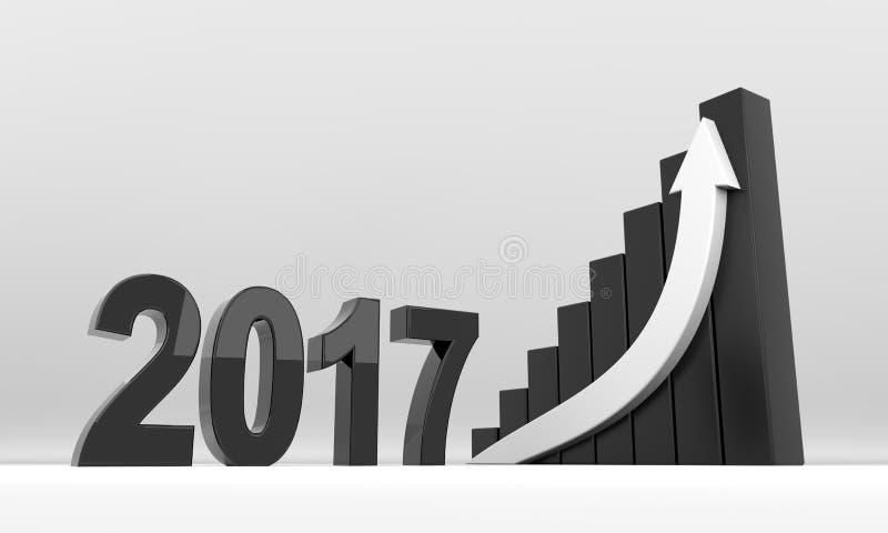 Croissance 2017 de flèche d'année illustration de vecteur