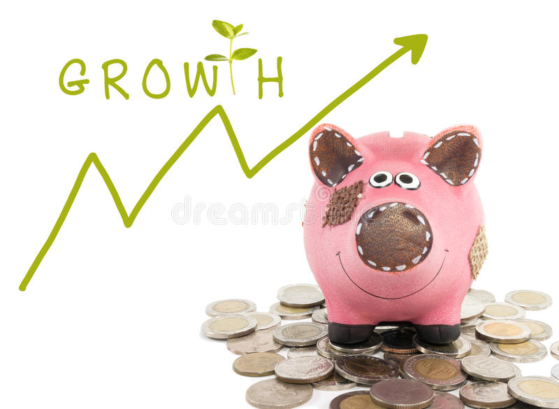 Croissance de votre concept d'argent image stock