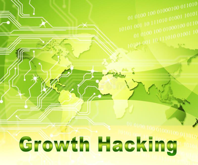 Croissance entaillant illustration de la tactique d'amélioration de site Web la 2d illustration stock