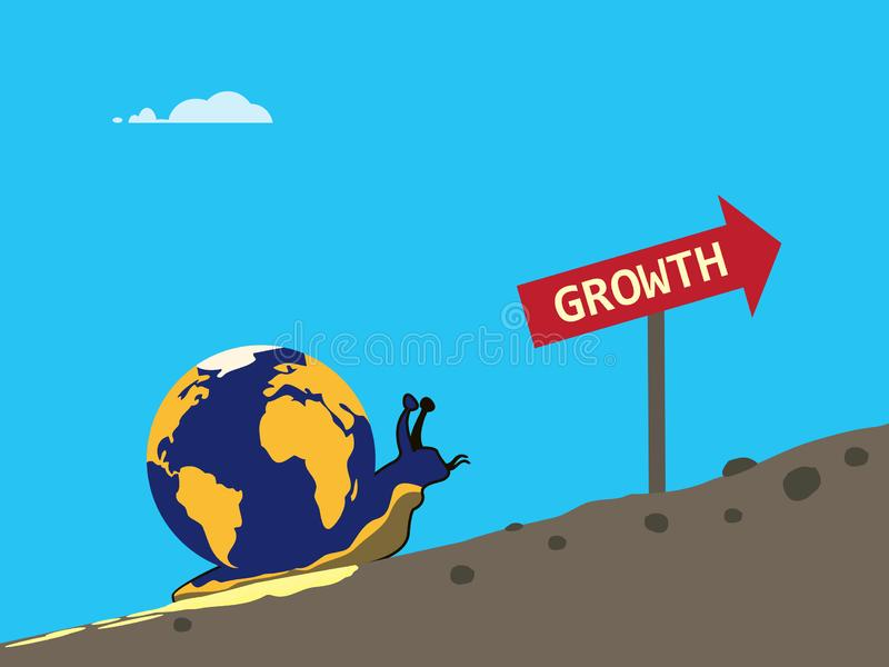 Croissance globale lente illustration libre de droits