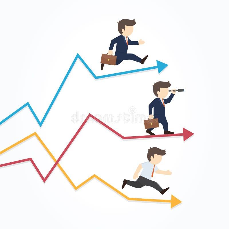 Croissance, stabilité, illustration de vecteur d'affaires de concept illustration libre de droits