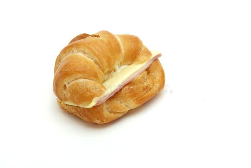 croissant ζαμπόν τυριών στοκ εικόνα