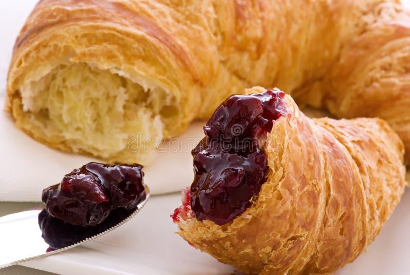 croissant μαρμελάδα στοκ εικόνες με δικαίωμα ελεύθερης χρήσης