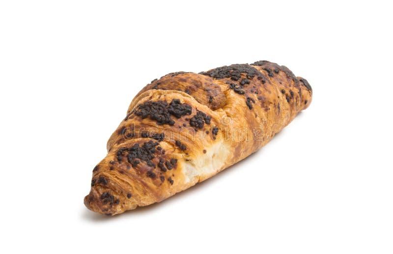 croissant σοκολάτας που απομονώνεται στοκ εικόνες