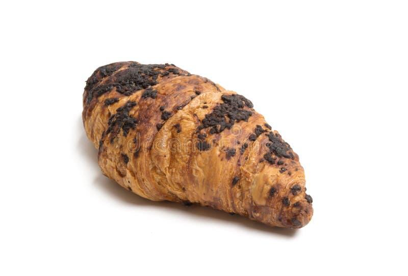 croissant σοκολάτας που απομονώνεται στοκ φωτογραφία με δικαίωμα ελεύθερης χρήσης