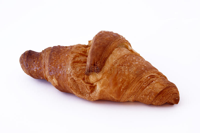 Croissant. A french croissant isolated on white background royalty free stock image