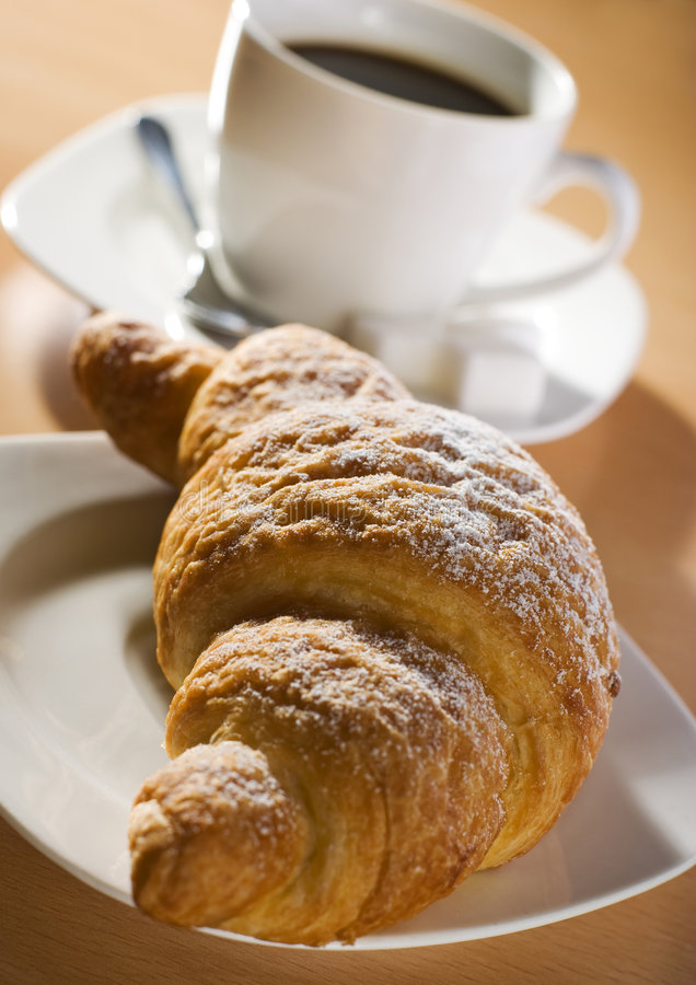 Download Croissant stock image. Image of morning, pastry, beverage - 5825789