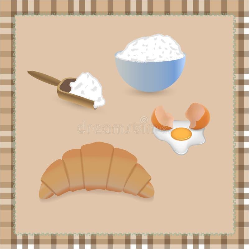 Croissant ilustracji