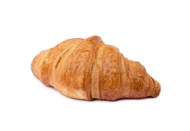 Croissant amanteigado fresco foto de stock