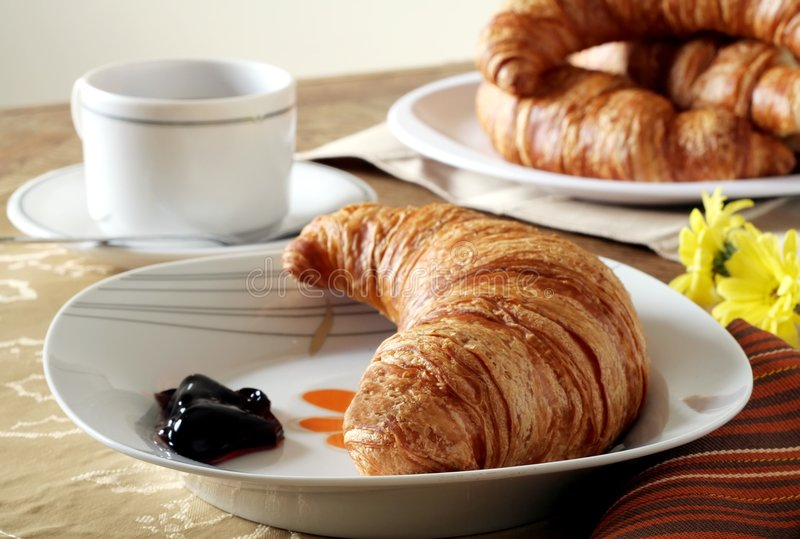 Croissant Breakfast stock images