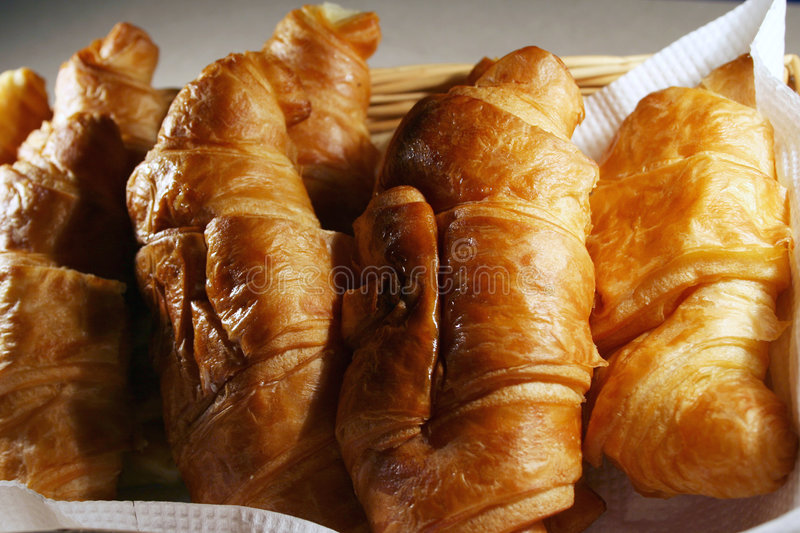 Croissant with cheese & eggs stock photography