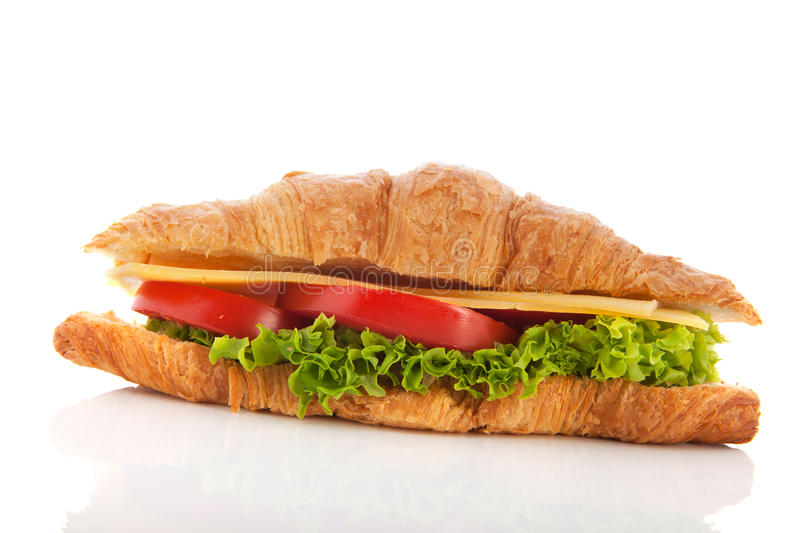 Download Croissant With Cheese And Vegetables Stock Photo - Image: 28885140