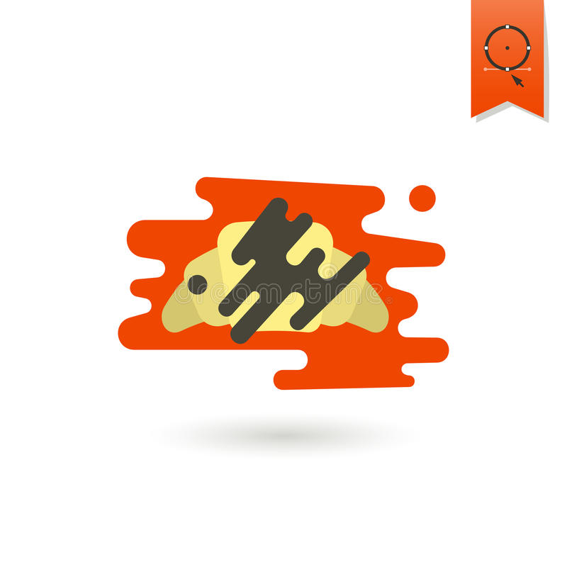 Croissant with Chocolate royalty free illustration