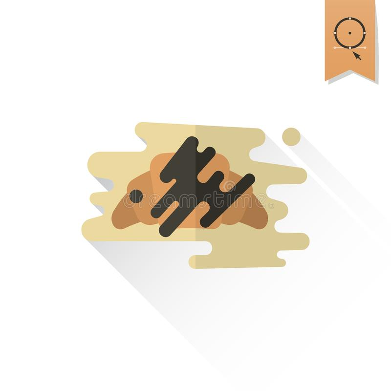 Croissant with Chocolate vector illustration