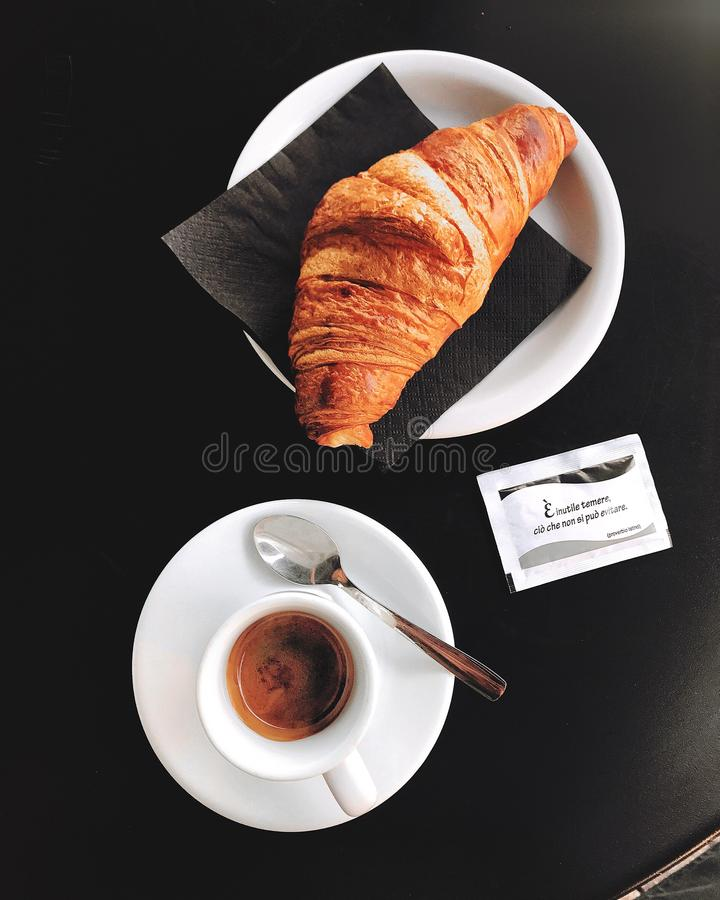 Croissant and Coffee obraz royalty free