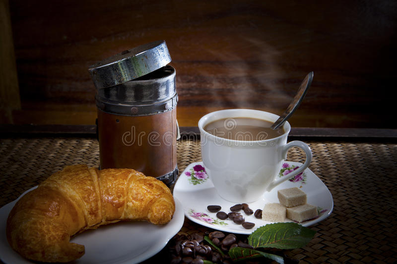 Download Croissant and coffee stock image. Image of close, bakery - 29908869
