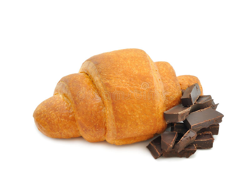 Croissant con cioccolato fotografie stock libere da diritti