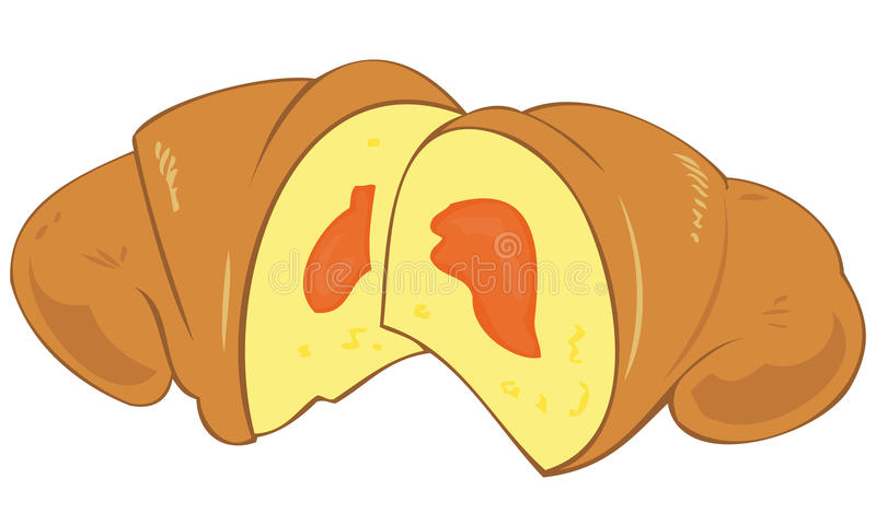 Croissant con ostruzione. illustrazione vettoriale