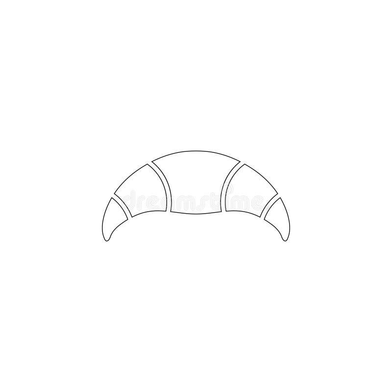 Croissant ?cone liso do vetor ilustração stock