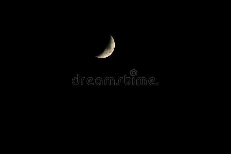 Croissant de lune en ciel noir illustration stock