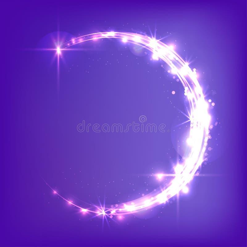 Croissant de lune rougeoyant illustration de vecteur