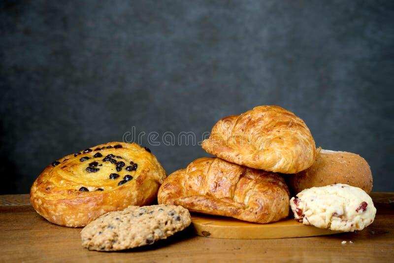 Croissant Deens en koekjesbakkerij royalty-vrije stock foto