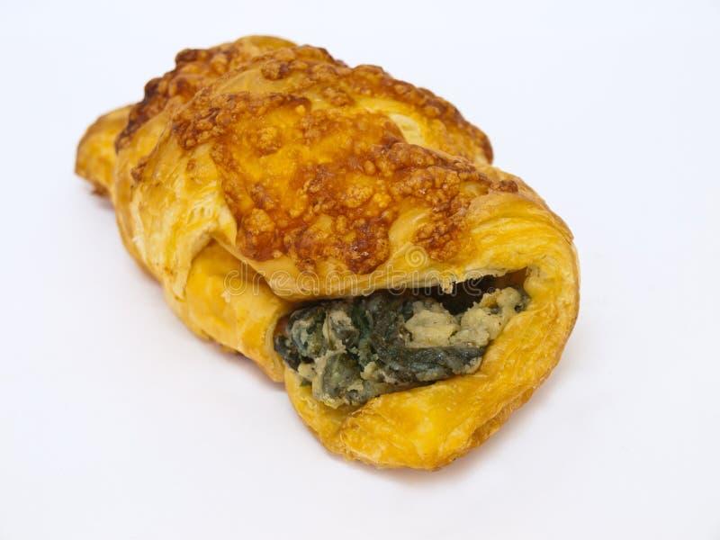 Croissant degli spinaci immagine stock