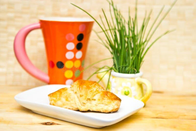 Croissant Do Pequeno Almoço Foto de Stock Royalty Free