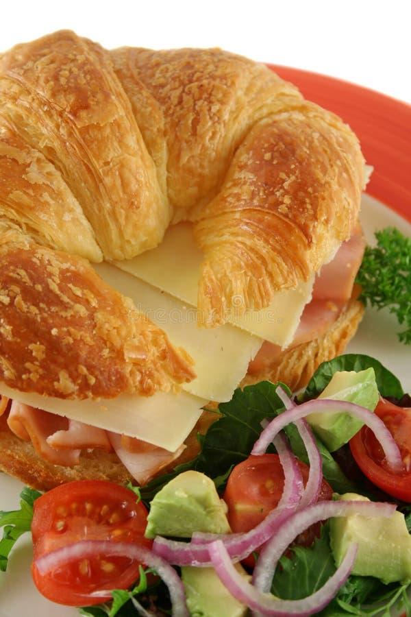 Croissant do queijo e do presunto   fotos de stock royalty free