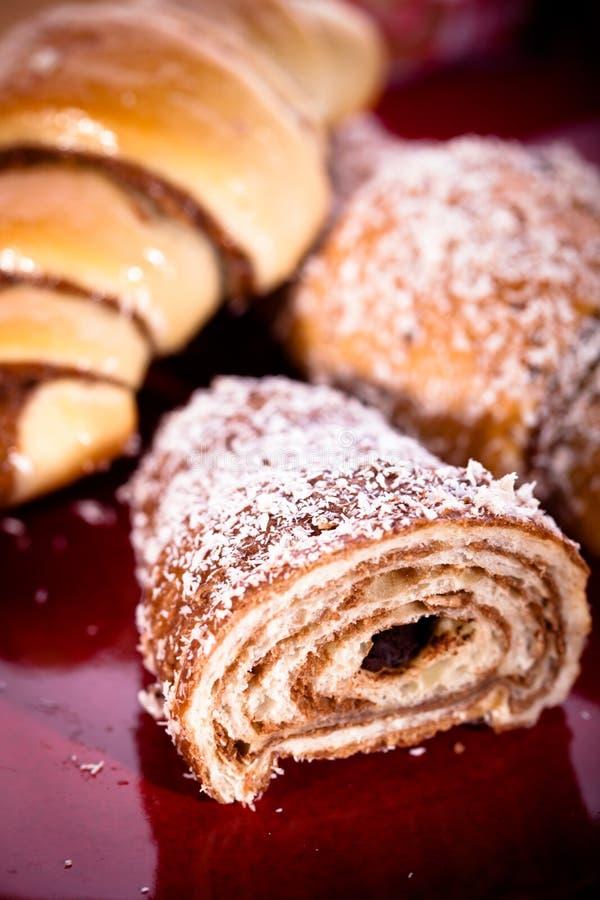 Croissant dulce foto de archivo