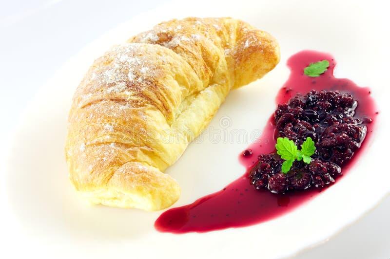 Croissant ed ostruzione fotografia stock
