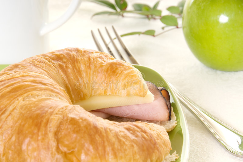Download Croissant With Ham And Cheese Stock Photo - Image: 9098838