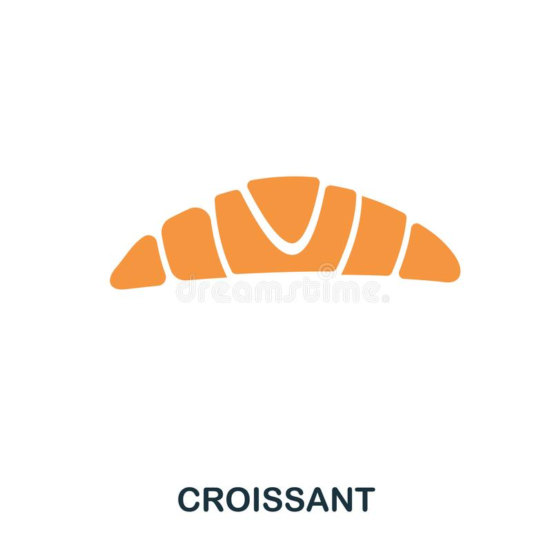 Croissant icon. Mobile apps, printing and more usage. Simple element sing. Monochrome Croissant icon illustration. Croissant icon. Mobile apps, printing and vector illustration