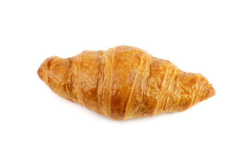Croissant isolado no branco imagem de stock